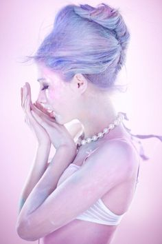 Cake Makers – Masha P and Anna I make sweet confections for the February edition of Marie Claire China, shot by Amber Gray. The pastel designs of Louis Vuitton… Pastel Blue Hair, Hair Color Blue, Purple Hair, Pretty Pastel, Lilac Color, Marie Claire, Beauty Photography, Fashion Photography, Pelo Color Azul