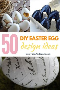 50 quick and easy DIY Easter egg design ideas! I know Easter eggs are for kids but these are great Easter crafts for adults. Spring Crafts, Holiday Crafts, Holiday Fun, Christmas Holidays, Holiday Ideas, Easter Crafts For Adults, Easter Egg Crafts, Easter Eggs, Diy Design