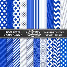 Basic Papers Kit – Klein Blue – Nilmara Quintela Paper Designer