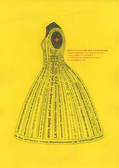 Lady alphabet / in yellow