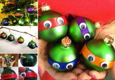 How to DIY Fun Ninja Turtle Christmas Ornaments | www.FabArtDIY.com LIKE Us on Facebook ==> https://www.facebook.com/FabArtDIY