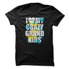 (Tshirt Cool Design) I Love Heart My Crazy Grand Kids T-shirt Shirts This Month Hoodies, Funny Tee Shirts
