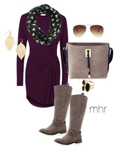 """""""Ginger does taupe & accessories"""" by hartyourcloset on Polyvore featuring WalG, Avenue, Forever 21, River Island, feminine, plum, goldaccessories, taupeboots and embracefall"""