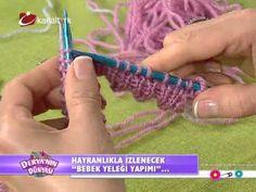 Bebek yeleği yapımı ...deryanın dünyası - YouTube Crochet For Kids, Crochet Baby, Knit Crochet, Baby Vest, Crochet Videos, Working With Children, Crochet Fashion, Crochet Dolls, Baby Knitting