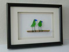 Sea Glass Birds by RockyCoastDesigns on Etsy, $40.00