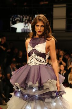 Elisa Sednaoui @Lavera Opening Show January 2015 wearing a beautiful dress from Fahmoda Hannover