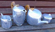 Picquot Ware Tea Set, Tea Pot, Coffee Pot, Milk Jug, Sugar Bowl | eBay
