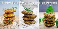 The Ultimate Veggie Burger Guide - Get the basics right and then the imagination is the limit! You'll uncover the great world of veggie burgers! Veggie Recipes, Whole Food Recipes, Cooking Recipes, Burger Recipes, Vegan Vegetarian, Vegetarian Recipes, Healthy Recipes, Vegetarian Options, Raw Vegan