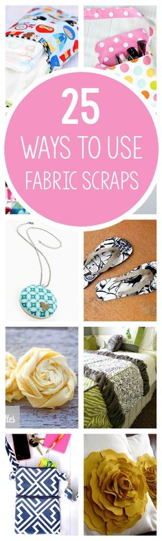 Ways to Use Fabric Scraps-25 Fun Scrap Fabric Projects