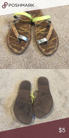 Neon Sandals 💕 Pre-loved but still in great shape! 💕 Shoes Sandals