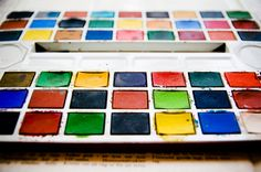 vintage watercolors