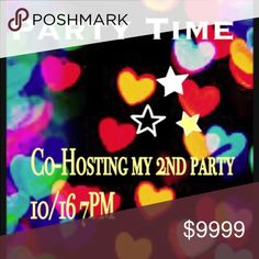 Co-hosting my 2nd posh party Please come and join me as I co host a posh party on October 16th. Theme is weekend wardrobe party. After the theme is announced feel free to tag me in listings that have never been chosen as posh party host picks. Please keep in mind that I will only choose from posh compliant closets. Other