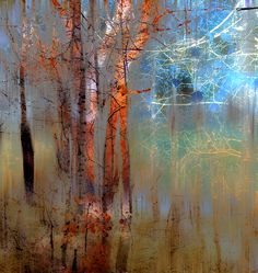 tree abstract by peter holme III Wat een mooie kleuren, glans, prachtig Landscape Art, Landscape Paintings, Tree Paintings, Modern Art, Contemporary Art, Fine Art, Amazing Art, Cool Art, Art Photography