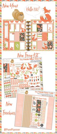 Foxy Kit, New Freebie Planner stickers! #free #plannerstickers…