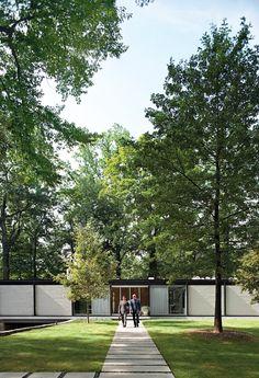 Goddard Mendolene residence - exterior shot - restoration of 1957 home by Architect Arthur Witthoefft #casestudy