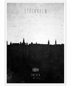 Stockholm Contemporary Cityscape of Calm The Ham now on JUNIQE! discountcode: shopnow2014