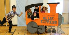 Having a train party? How about adding a train cut out for a fun photo booth!