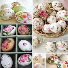 DΕCOUPAGE σε Πασχαλινά αυγά χωρίς κόλλα   ΣΟΥΛΟΥΠΩΣΕ ΤΟ