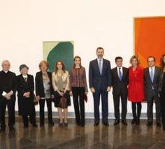Their Majesties King Felipe and Queen Letizia of Spain 1/22/2015