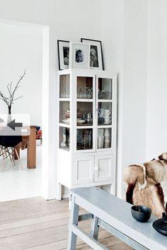 white cabinet in the corner