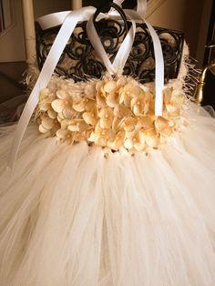 Ivory Flower Girl Dress Tutu Special Occasion Wedding Dress