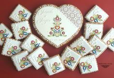 Wedding keepsake with Slovak cookie ornaments Libuša Bartošová