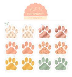"Easter Printable.   ""Follow the bunny"" footprints.   Darling."