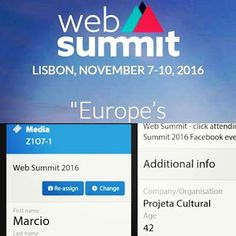 Projet@Cultural: WEB SUMMIT LISBOA - MAIOR EVENTO DO MUNDO SOBRE ST...