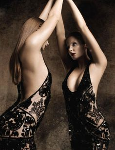 Nymphe | Eniko Mihalik | Warren du Preez & Nick Thornton Jones #photography | Numéro 133 <3 this dress!