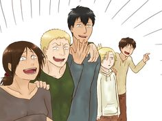 oh shoot someone just said to murder all the titan shifters Attack On Titan Krista, Attack On Titan Comic, Aot Funny, Funny Cute, Titan Shifter, Annie Leonhart, Humanoid Creatures, Aot Characters, Ymir