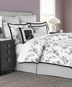 Martha Stewart Collection Dusk Blossom 6 Piece Queen Comforter Set
