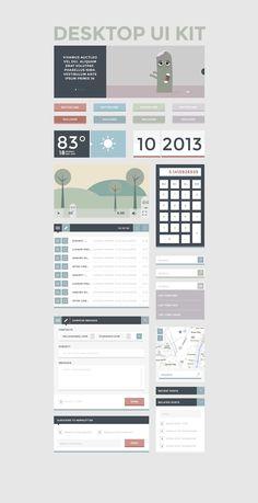 Free Flat UI Kit 24