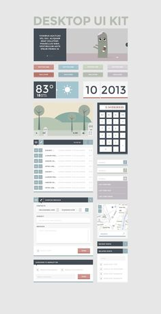 Free FlatUI Kit 24 | #faltui #webdesign #ui
