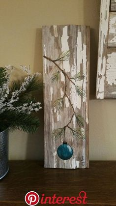 Turquoise - Teal Hand painted Christmas decoration, GIFTS UNDER Pine Branch with Aqua Bulb, Reclaimed barnwood, Pallet art, Shabby chic Christmas Wood Crafts, Christmas Gift Decorations, Christmas Signs, Rustic Christmas, Christmas Art, Christmas Projects, Holiday Crafts, Christmas Holidays, Christmas Ornaments
