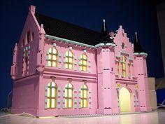 Pink Lego castle