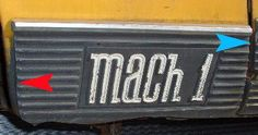 70 Mach 1 rocker black