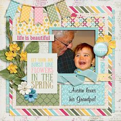 Layout using {Blossom} Digital Scrapbooking Collection by Aprilisa Designs http://store.gingerscraps.net/Blossom-Blossom-by-Aprilisa-Designs.html #digiscrap #digitalscrapbooking #aprilisadesigns #blossom
