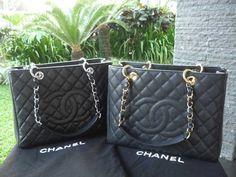 Chanel GST Tote - gunmetal gray in SHW; bought in Barcelona passig de gracia