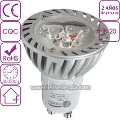 Bombilla LED Dicroica 3W GU10 u ojo de buey led