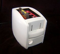 The Nintoaster....someone made a toaster into a nintendo. You put the game and controllers in the bread slots and the lever is the power switch.