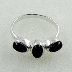 Black Onyx Stone Fabulous  Design 925 Sterling Silver Ring by JaipurSilverIndia on Etsy