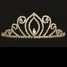 Pretty as a princess in this lovely tiara. A simple yet elegant design of quality rhinestones for a dazzling effect. A dainty tiara available in gold or silver. Perfect for pageants, Quinceanera, weddings, flower girls or any special day! Quinceanera Tiaras, Styling Tools, Headpiece, Headbands, Hair Care, Fashion Accessories, Princess, Pretty, Pageants