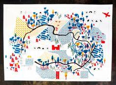 Illustration Design Graphique, Art Graphique, Watercolor Illustration, Graphic Illustration, Fort Worth Map, Plan Ville, Atelier Theme, Mental Map, Map Maker