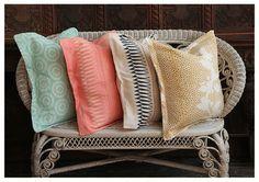 Colourful cushions.