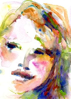 """One and Only"" - Watercolor of a Woman's Face"