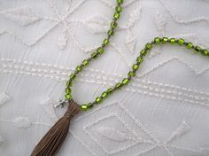 Turquoise and Lime Layering Necklace by ShopElectricBuffalo