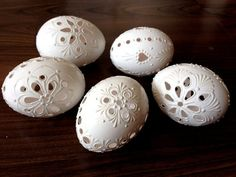 Items similar to Set of 5 white Hand Decorated Madeira Painted Chicken Easter Egg with Ribbon, Drilled Traditional Slavic Wax Pinhead Chicken Egg, Pysanka on Etsy Carved Eggs, Egg Designs, Egg Crafts, Easter Traditions, Egg Art, Chicken Eggs, Egg Decorating, Easter Eggs, Etsy