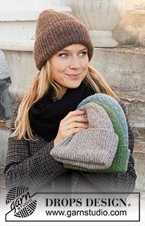 Beanie Knitting Patterns Free, Knitted Mittens Pattern, Knit Mittens, Knitting Designs, Free Knitting, Knitting Projects, Knitted Hats, Crochet Patterns, Drops Design