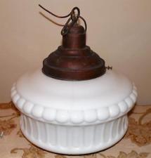 Art Deco Ceiling Light Shade White Milk Glass