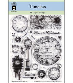 "Hot Off The Press Acrylic Stamps 5.5""X7"" Sheet-Timeless : stamps : stamping : scrapbooking : Shop 
